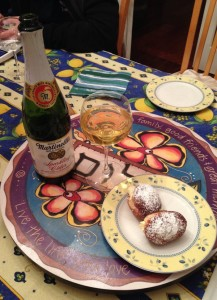 Cider and Sufganyot